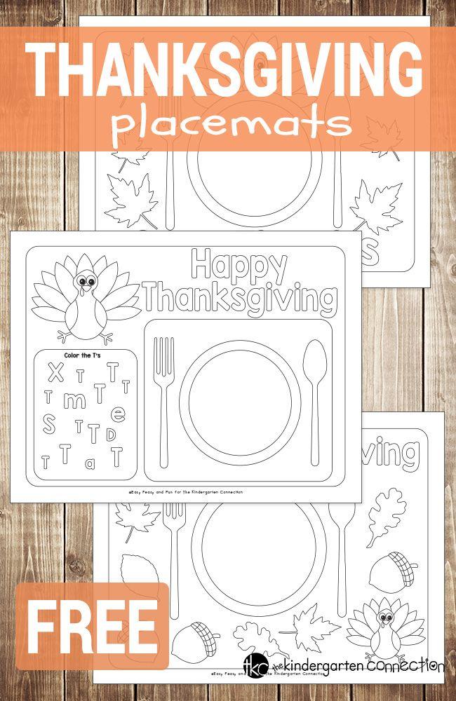 Fun Printable Thanksgiving Placemats Thanksgiving Placemats