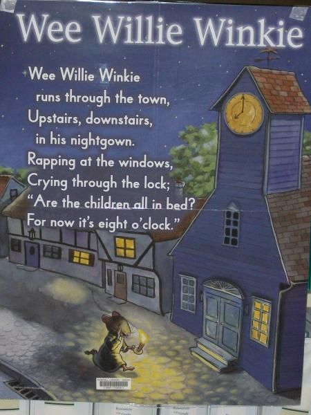 "WEE WILLIE WINKIE"". OLD SCOTTISH NURSERY RHYME 
