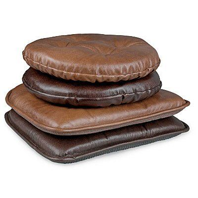 Faux Leather Chair Pad Improvements By Improvements 14 99 The Faux Leather Chair Pads Can Faux Leather Chair Leather Chair Cushions Kitchen Chair Cushions
