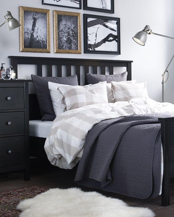For A Farmhouse Bedroom Vibe Swap In An Ikea Emmie Ruta Duvet Cover And Pillowcases Yarn Dyed