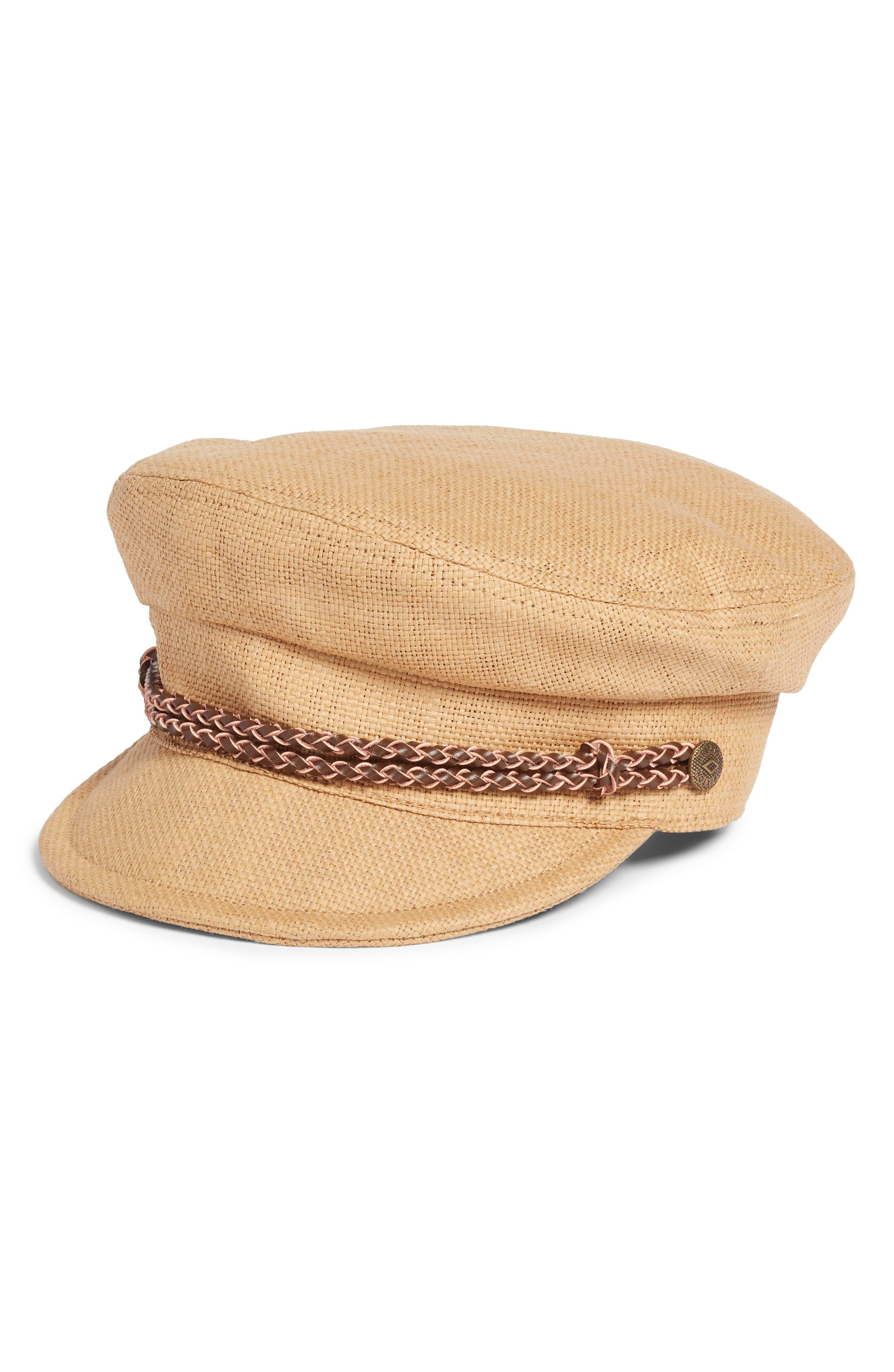 quality design ad7d6 1aa0a Women s Brixton Kayla Straw Baker Boy Cap - Brown