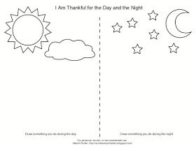 Coloring Page For Lesson 8 I Am Thankful For The Day And Night Day For Night Coloring Pages Worksheets For Kids