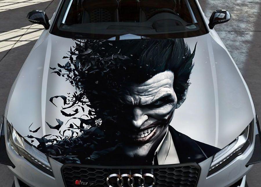 Joker Skull Smile Batman Gotham Bad Superhero Comic Car Hood Vinyl Sticker Decal