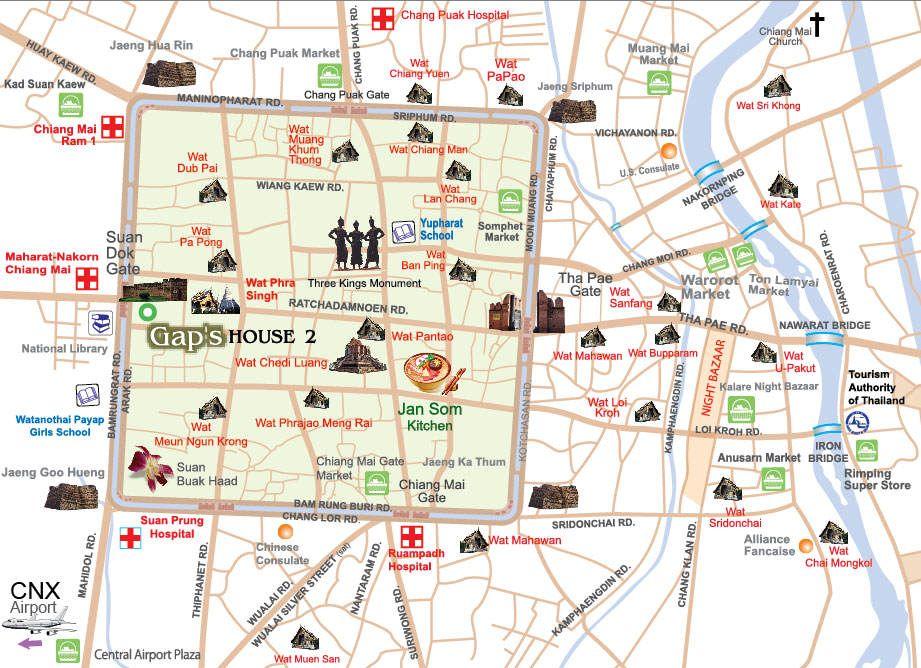 Mapa De Chiang Mai.Guia De Chiang Mai En 2019 Turismo En Tailandia Chiang