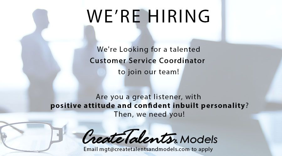 We Are Looking For Customer Service Coordinator To Join Our Team