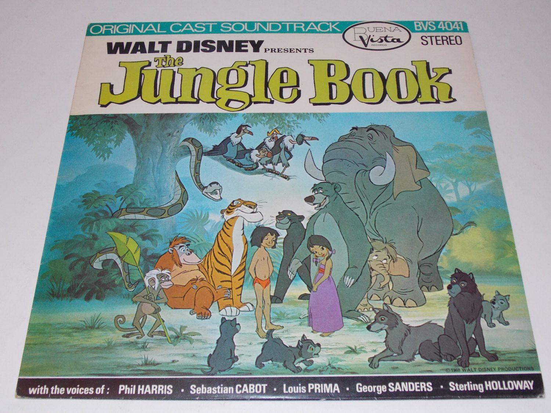 Rare 1968 Walt Disney Presents The Jungle Book Original Cast