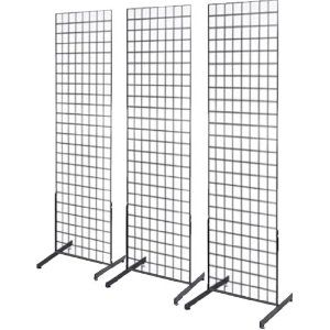 """$14- Gridwall Products :: Gridwall Panel Bases & Joining Clips :: Gridwall Free standing """"T"""" Leg - store fixture,retail display,grid wall,slatwall,hanger,display case,hooks,jewelry display"""