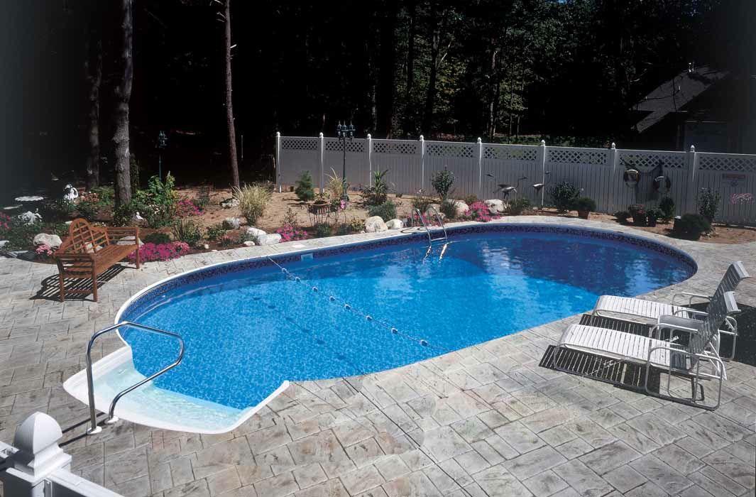 Semi inground pools pools radiant swimming pools for 16x32 pool design