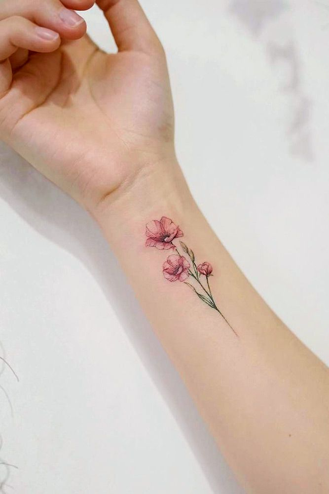 21 Flower Tattoos Designs And Meanings For Your Inspo is part of Poppies tattoo - Flower tattoos are very popular among the female part of the population  However, there is always something more to the image, isn't there
