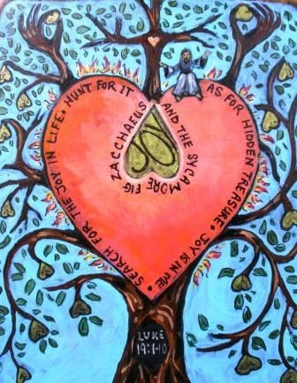 Perfect Valentines Gift  Zacchaeus and the Sycamore by Art4thesoul, $30.00