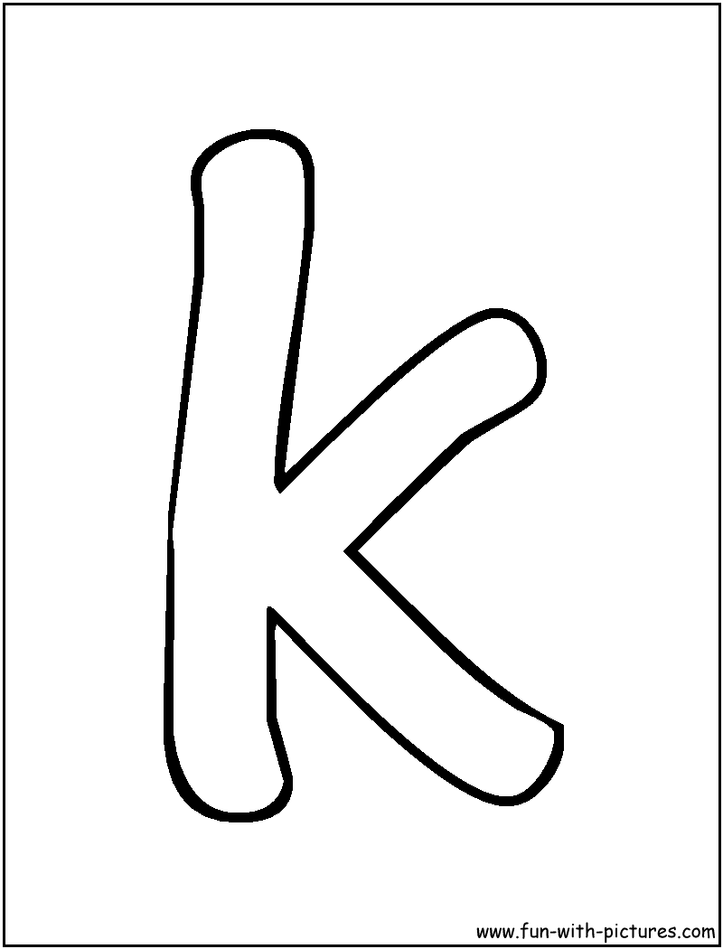 letter k coloring pages 09 k key | *K* ABC Work | Pinterest