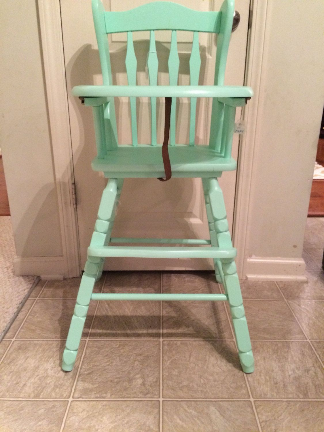 Painted wooden high chair - Vintage Wooden High Chair Jenny Lind Antique High Chair Vintage High Chair Custom Painted High Chair Wooden High Chair Antique