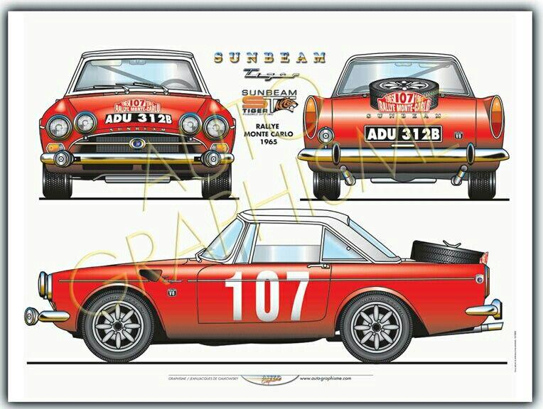 1965 Rallye Monte Carlo Sunbeam Tiger Automobile British Sports