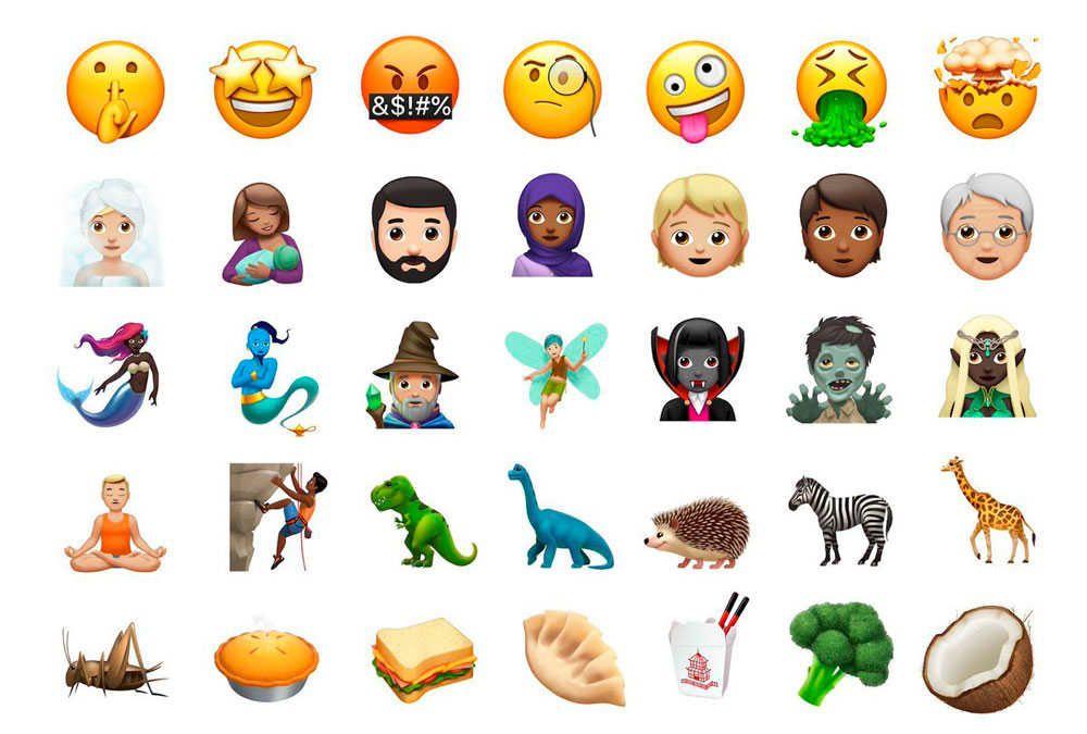 Zombies adas elfos y más los nuevos emojis para Apple - Marmor