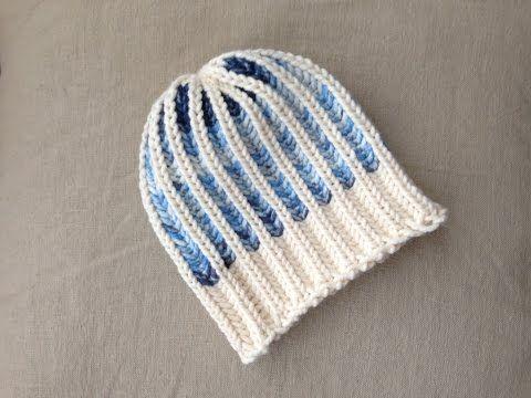 Bicolor Brioche Stitch Hat Tutorial Loom Knitting Loom Knit