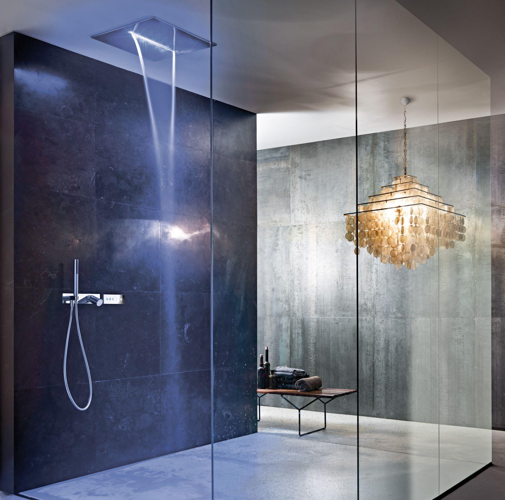 Design by Franco Sargiani for Fantini. ACQUA ZONE: ceiling shower ...