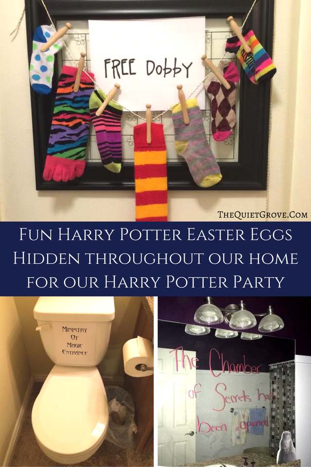 Harry Potter Easter Eggs Hidden Throughout Our House For Party
