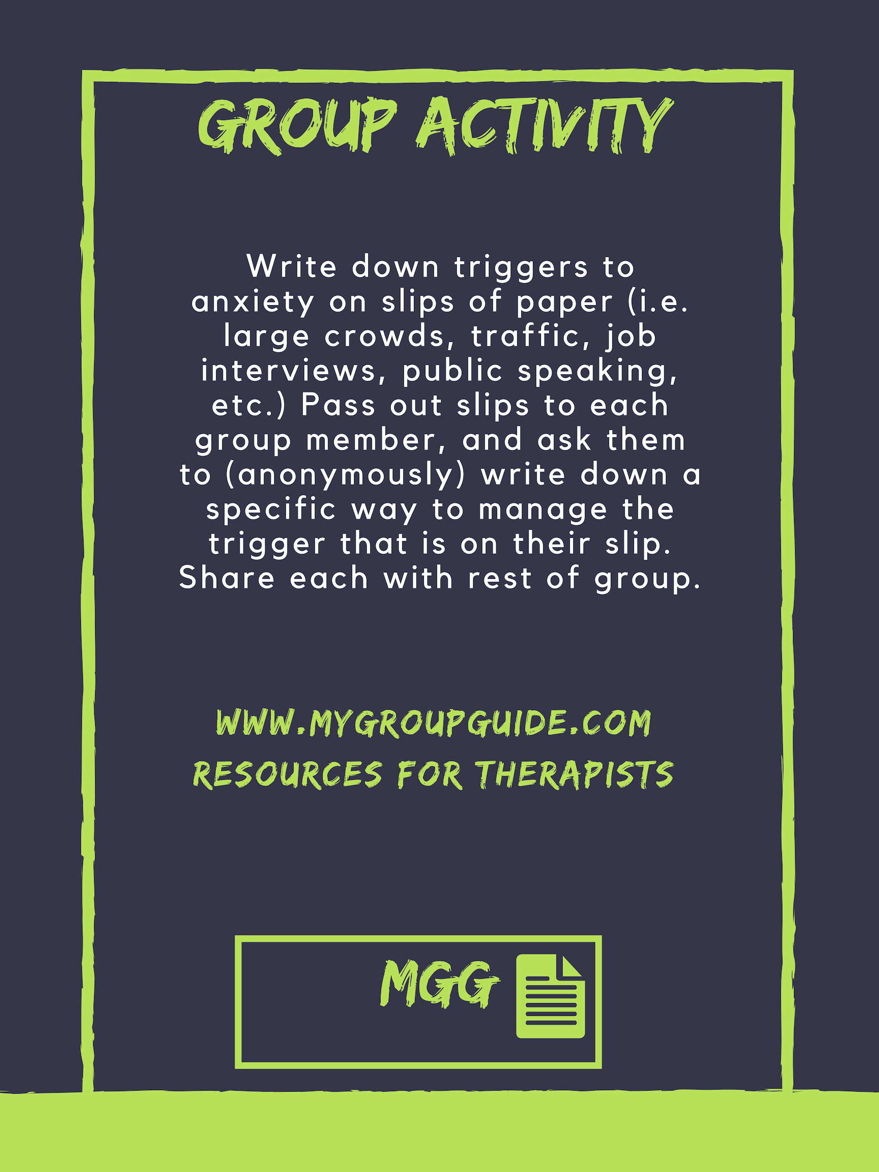 Pin On Group Therapy Anxiety