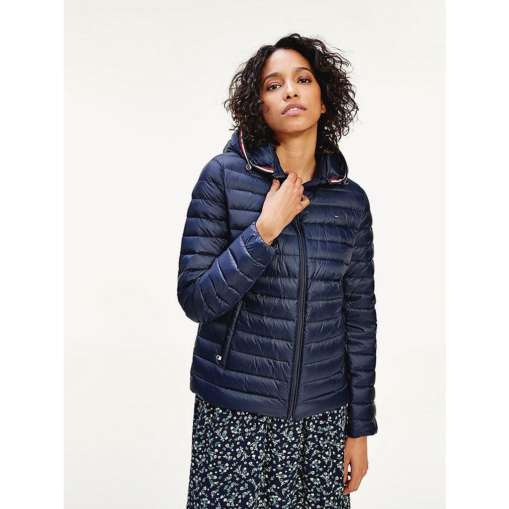 Essential Packable Down Jacket Blue Tommy Hilfiger Coats For Women Women S Coats Jackets Jackets [ 1023 x 1023 Pixel ]