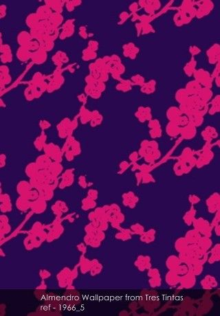 Almendro Wallpaper from Tres Tintas - Patternsnap Blog 'Pink. It's like red but not quite.'