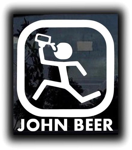 John beer custom sticker decal