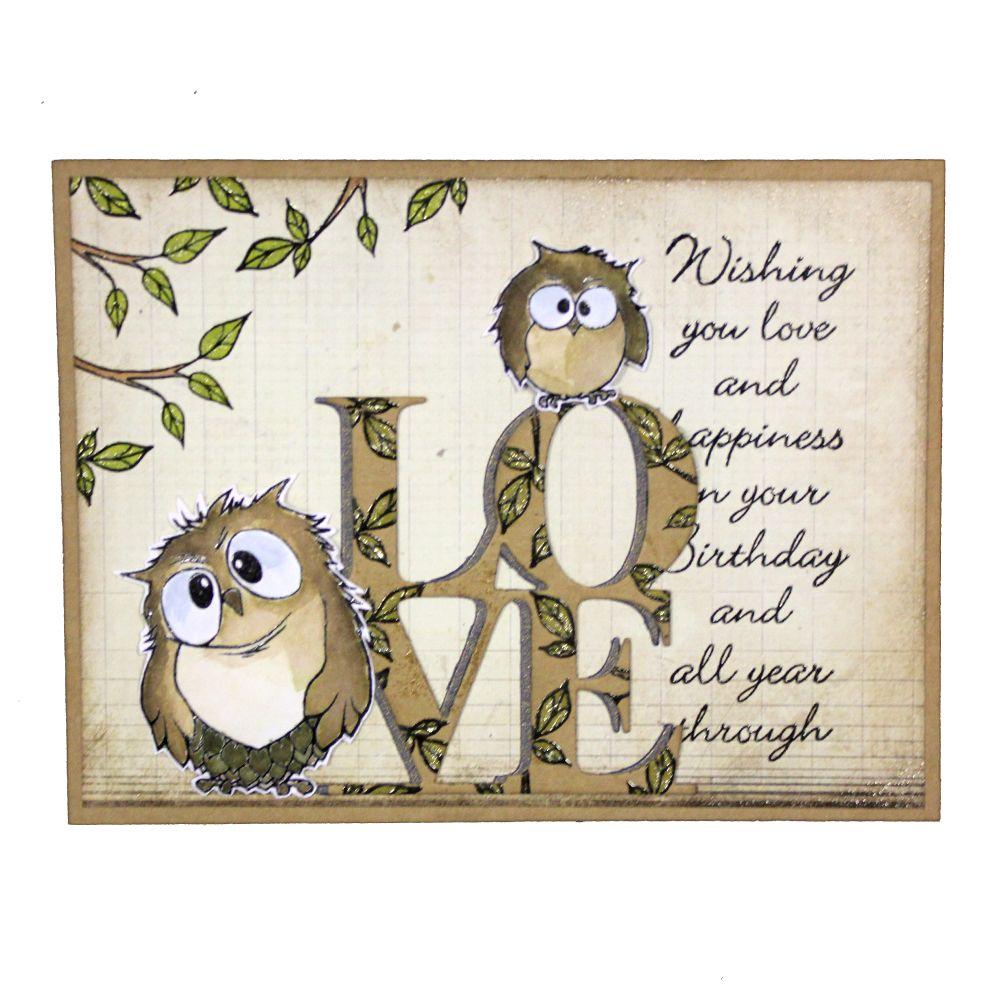Hobby Art Stamps - Owls CS066D