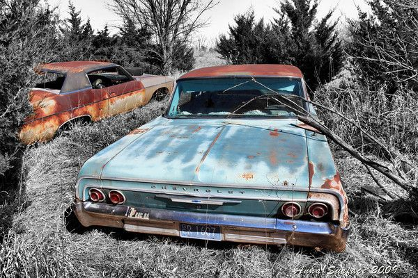 1964 Chevy Biscayne The Impalas Had 6 Tail Lights Abandoned Cars Chevy Impala