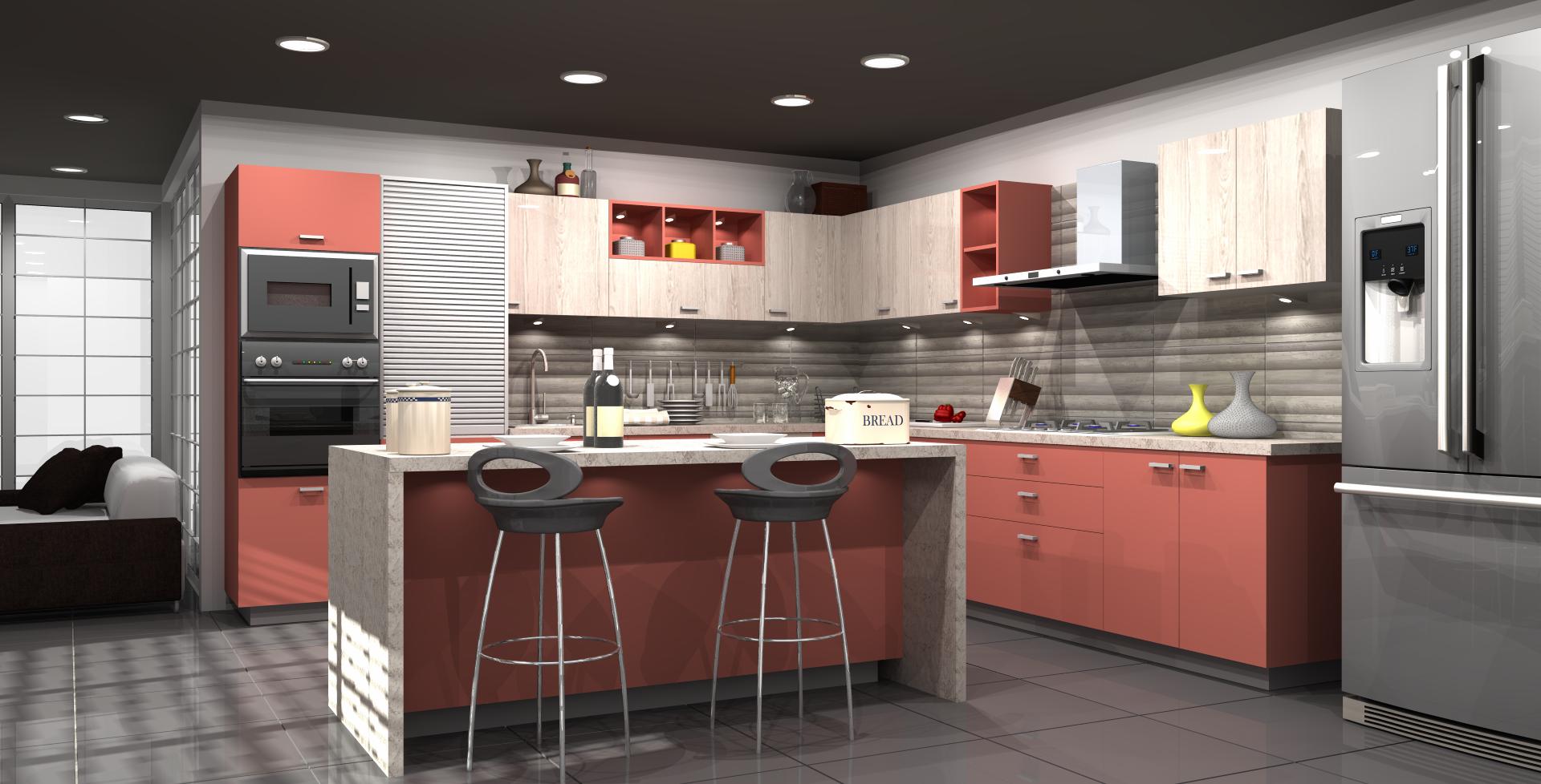 Modular Kitchen Designs By Sleek Kitchen Sleek Kitchen Wardrobe Design Kitchen Design