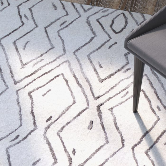 Nevaeh Hand-Tufted White Area Rug