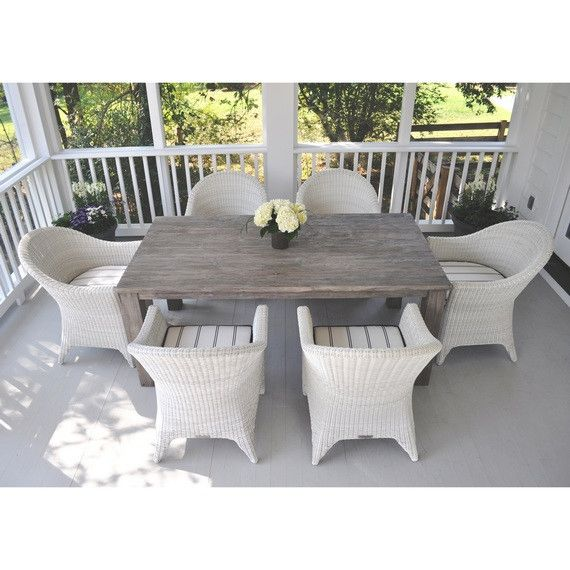 Kingsley Bate Elegant Outdoor Furniture Cape Cod Armchair With Valhalla Dining Table