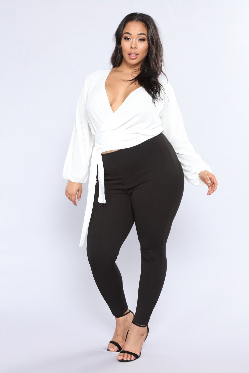 Plus Size All Business Jumpsuit Whiteblack 3299 Ootd Style