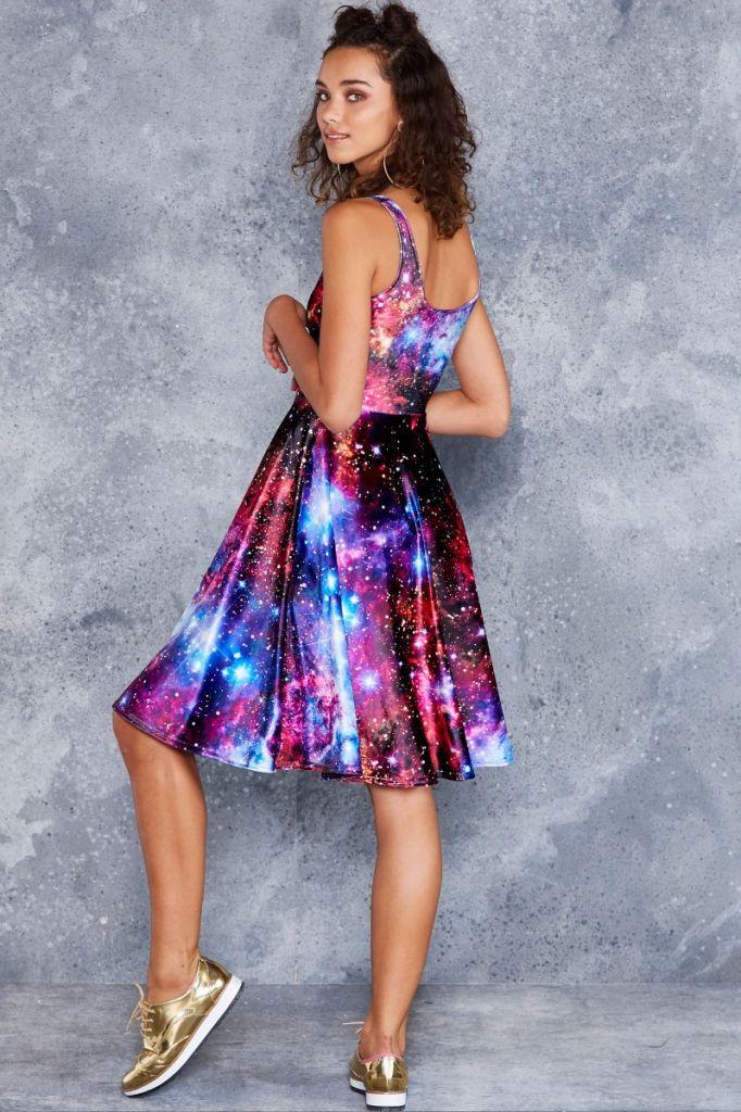 Galaxy Amethyst Velvet Pocket Midi Dress   Clothes   Pinterest