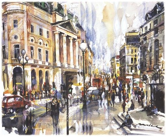 Cities — collection of paintings by Boston (and Saint-Petersburg) watercolor artist Misha Lenn devoted to the beautiful cities of the world.