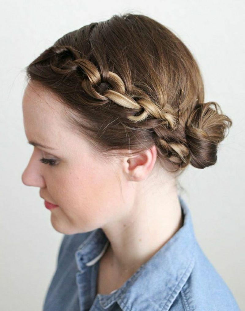 Elegante Dirndl Frisur Mittellange Haare Frisuren Trends
