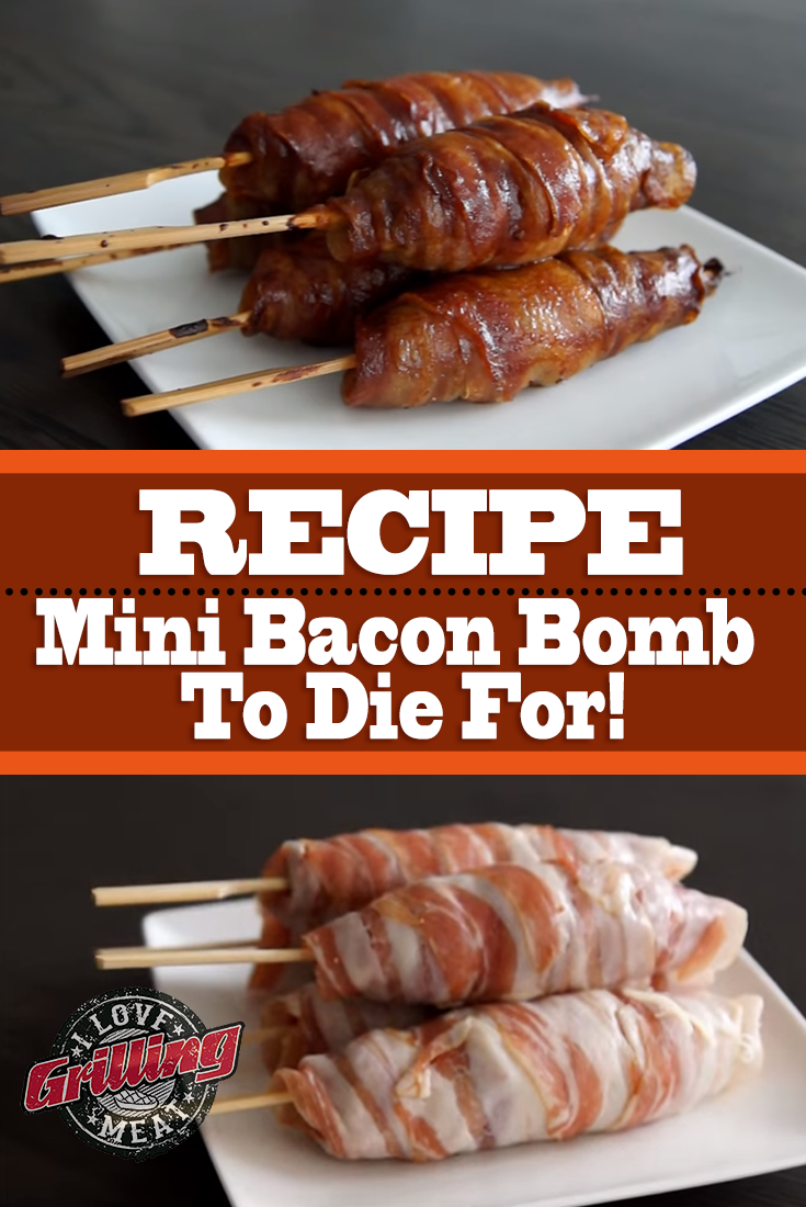 mini bacon bomb recipe to die for grilling recipes bacon recipes bacon bombs. Black Bedroom Furniture Sets. Home Design Ideas