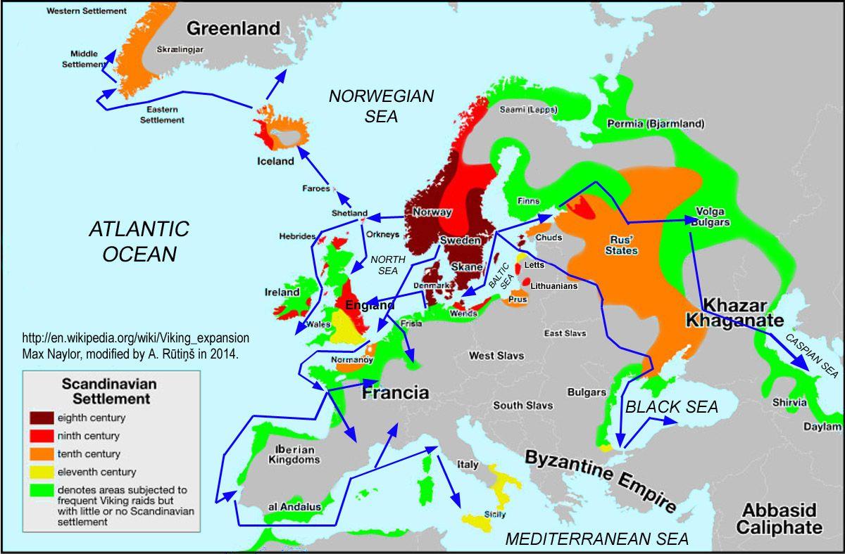 Résultats de recherche d'images pour «expansion viking map»