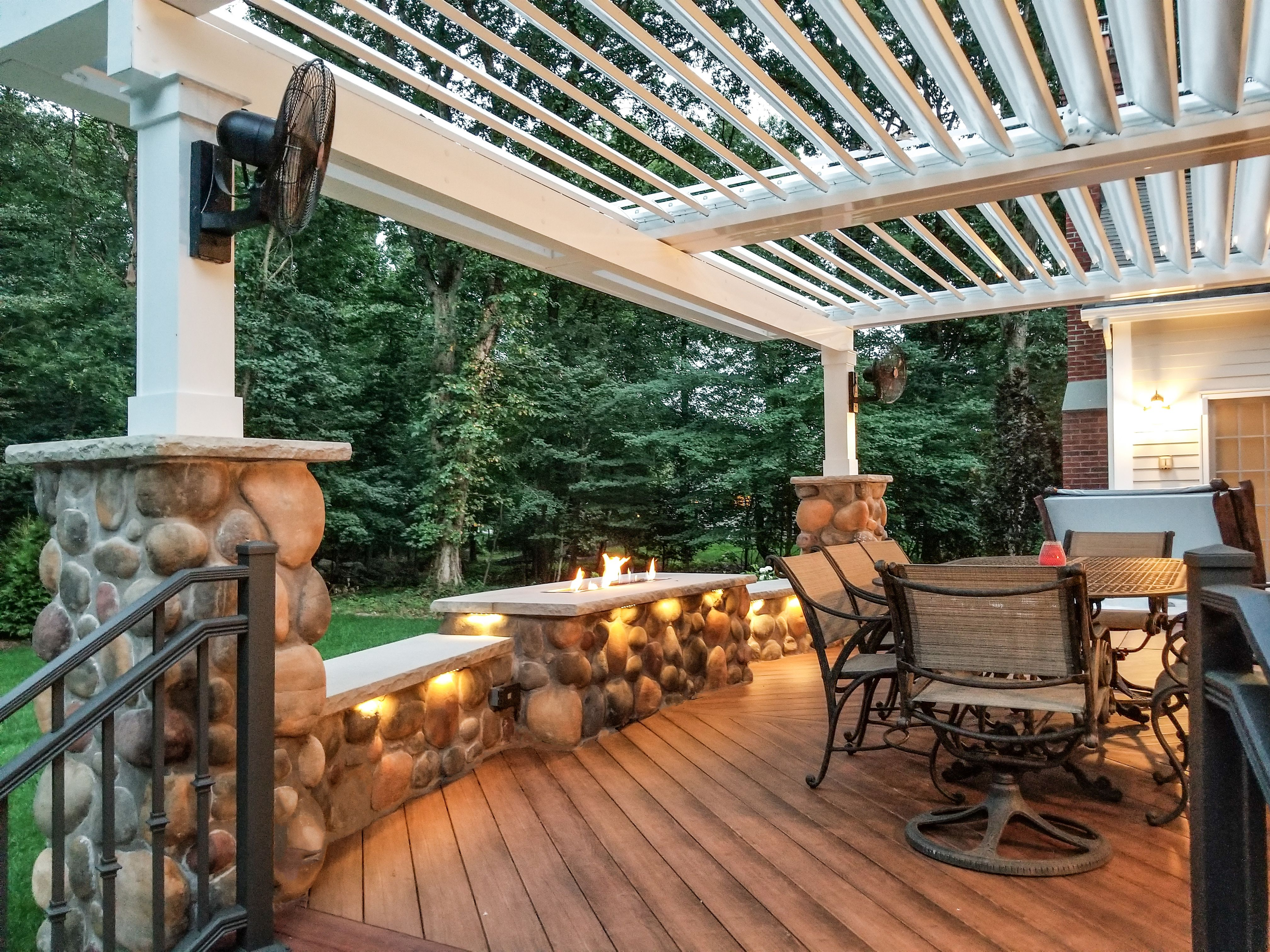 Pairing A Modern #Fireplace With An #Equinox #Pergola Encompasses The