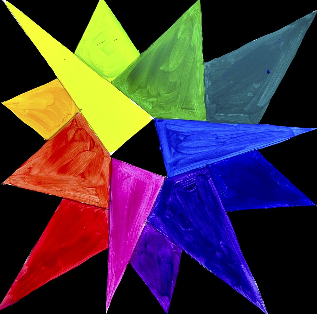 The Color Wheel Star Shaped Art Color Theory Star Shape Shapes Art
