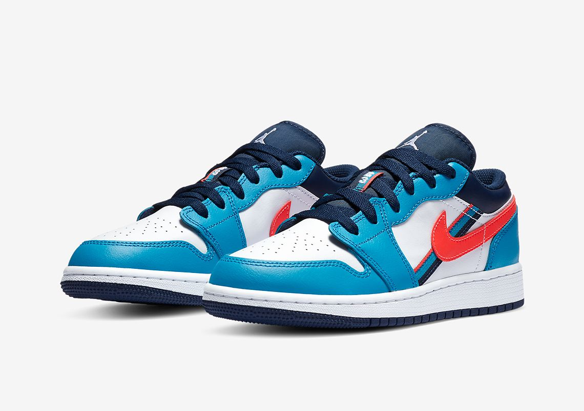 Air Jordan 1 Low Blue Red Cv4892 100 Release Info Sneakernews Com Air Jordans Jordan 1 Low Jordan 1