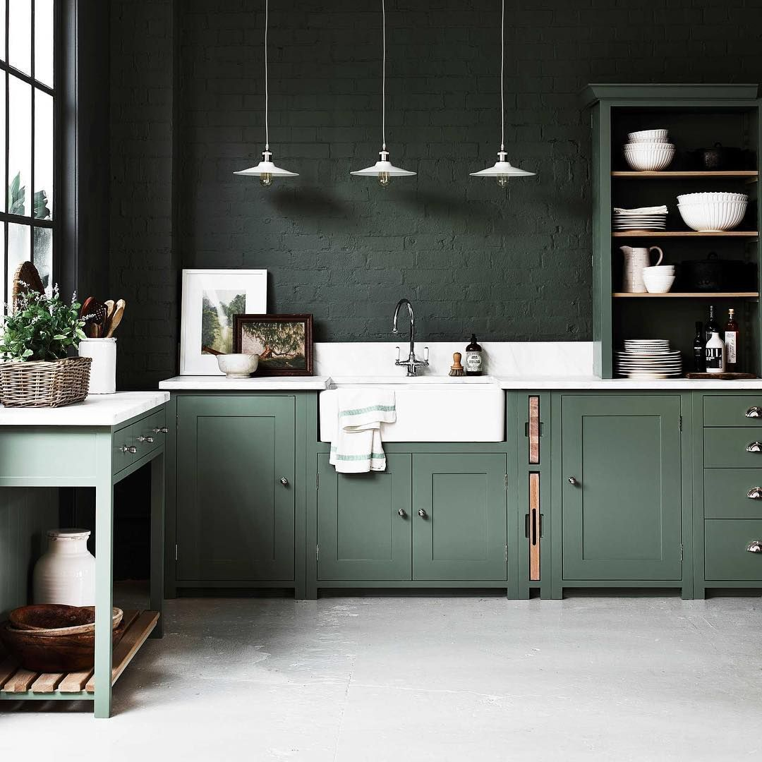 Peinture Vert De Gris Pour Cuisine: Pin By Dust Archt On Kitchen And Dining Room In 2019
