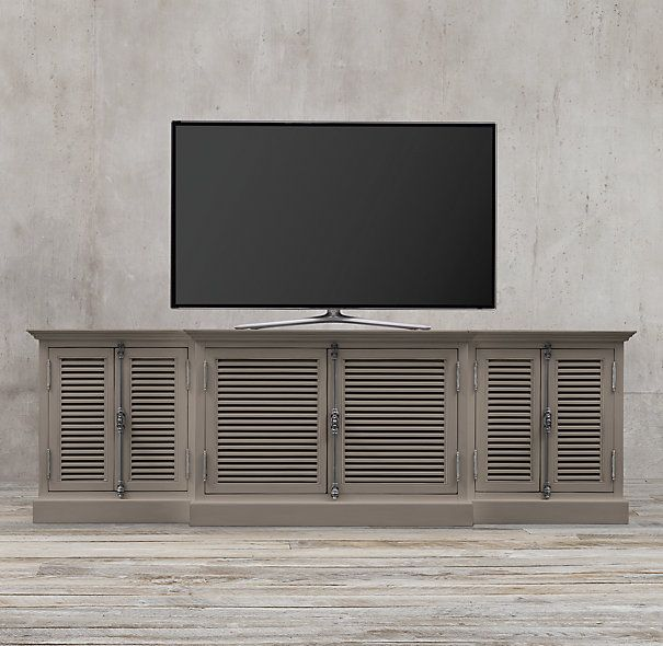 Shutter Media Console Furniture In 2019 Country Cottage