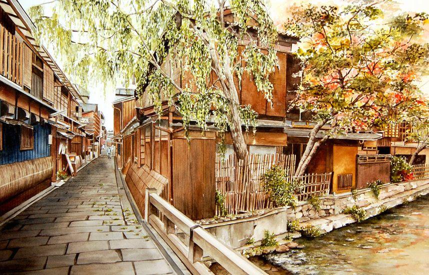 Marie-Claire Houmeau  Dans les rues de Kyoto