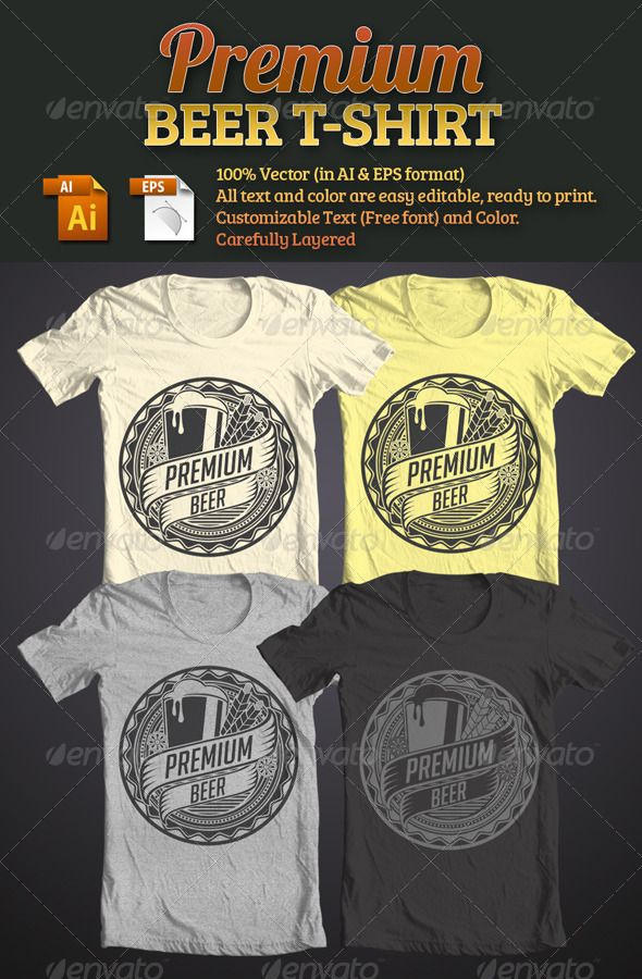 Premium Beer T Shirt Template Vector Eps Ai Download Here