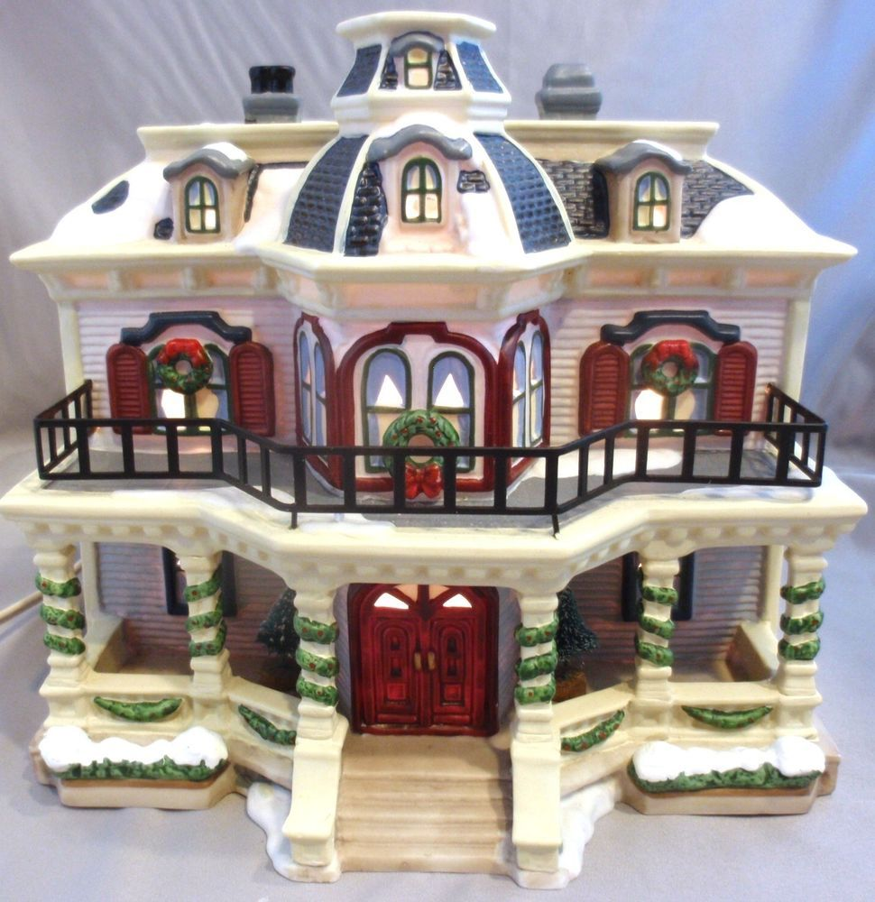St Nicholas Christmas Village.St Nicholas Square New Hope House Christmas Village Holiday Accent