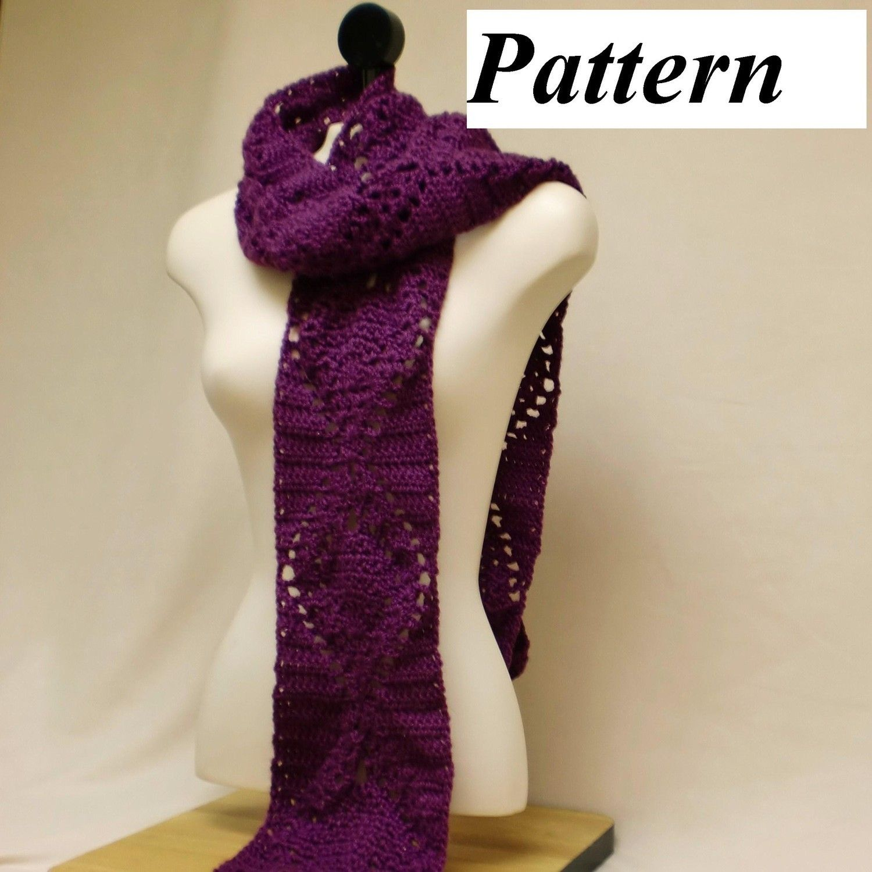 pdf Easy Pineapple Scarf Crochet Pattern, ok to sell. #scarfpattern #pattern #crochet #crochetpattern #easy #beginner