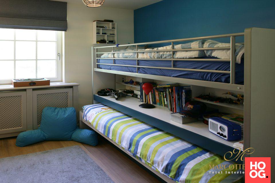 Slaapkamer Ideeen Hoogslaper : Kinderkamer hoogslaper kleine kamer ideeen voor tuin