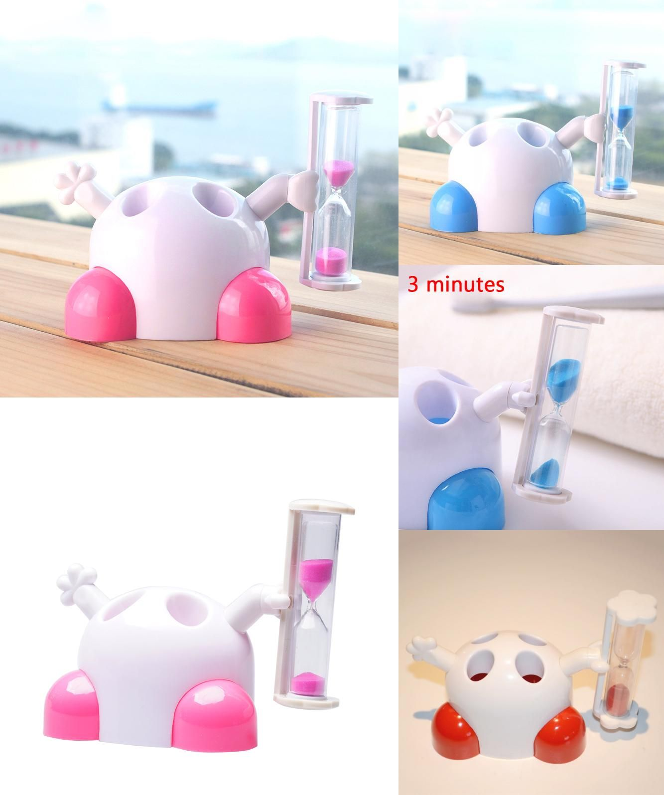 visit to buy household kids hourglass toothbrush holder timer