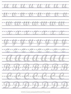 photo regarding Brush Lettering Practice Sheets Printable titled How I Train Brush Lettering (+ Free of charge Printable Educate