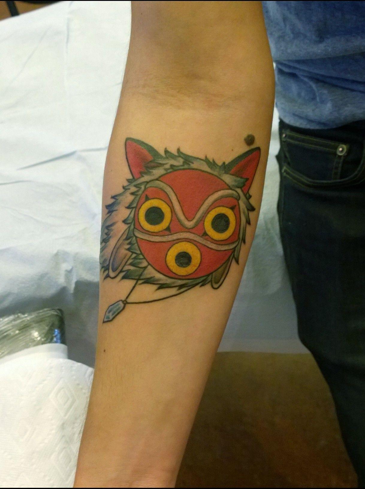 princess mononoke tattoo san