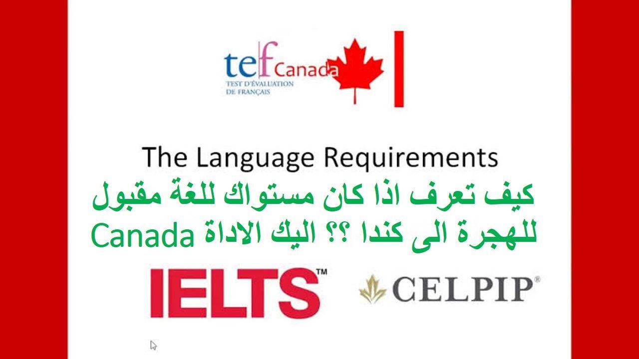 كيف تعرف اذا كان مستواك للغة مقبول للهجرة الى كندا أم لا Immigration Canada Twitter Canada